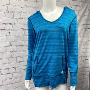 Champion Ladies Blue Long Sleeve Workout Top